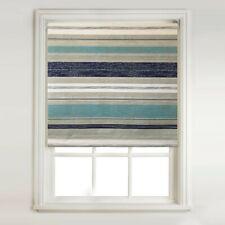 Blue & Grey Stripe - Thermal Blackout Roller Blind + Metal Tube