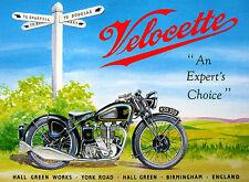 1947 Velocette KSS 350 - Promotional Advertising Poster