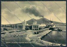 Napoli Stazione Marittima FG cartolina D5922 SZD