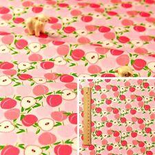PINK Meter/Fat Quarter/FQ 100% Cotton Fabric FQ Peach Nectarine Sewing Craft 160