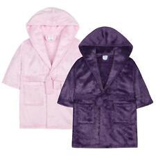 Girls Silver Fleck   Glittery Plush Fleece Dressing Gown   Robe ~ 2-13 Years fa7c8e0b4
