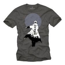 Vintage Anime T-Shirt Gamer Nerd Geschenke Japan Comic Naruto Figur grau S-XXL