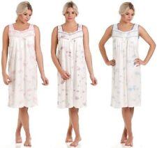 Mujer Lady Olga Jersey De Algodón Sin Manga Floral Pijama 0103 Camisón
