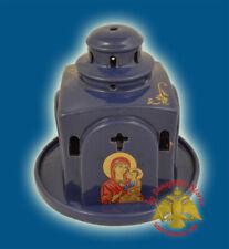 Orthodox Ceramic Metropolis Style Oil Candle Vigil Lamp 5 Colours Ikonenampel