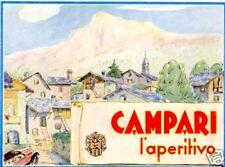 G.Muggiani-CAMPARI-aperitivo-paesaggio montano-1936.
