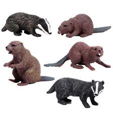Simulation animal world toy model European beaver children's solid plastic toy