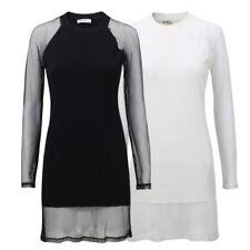 5316 Vestito donna maglietta maniche lunghe pullover maglia da donna M. rete