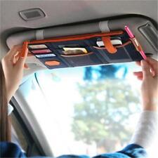 Car Sun Visor Point Pocket Documents Organizer Hanging Bag CD Card Holder LJ