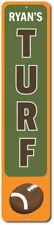 Football Turf Vertical Sign, Personalized Kid Name Room Metal ENSA1002304