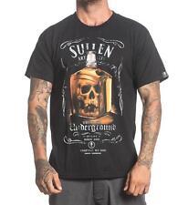 Sullen Harley Kirkwood Whiskey Bottle Skull Tattoo Alcohol Mens Shirt SCM1091