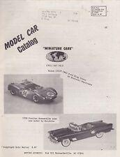 1960s/1970s MINIATURE CARS model car catalog / price list