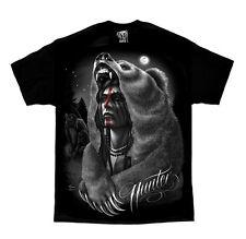 DGA David Gonzales Art Hunter Native American Indian Biker Punk Mens Shirt M-5XL