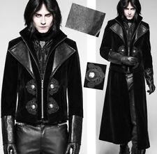 Victorian übertragbar Samt Mantel Jacke Gothic eingraviert leder PunkRave Herren