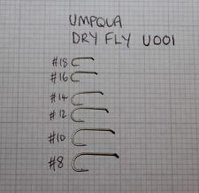Umpqua u001 Dry Fly Fly Legare Ganci, Taglie 8 - 18, confezioni da 50