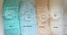 * Mohair Pattern Knit Wrap & Tieback 2 Piece SET for newborn baby photo prop