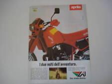 advertising Pubblicità 1985 MOTO APRILIA TUAREG 125