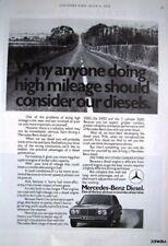 MERCEDES Deisel Car Range ADVERT - 1978 Photo Ad #2
