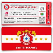 Einladungskarten zum Geburtstag als Fussballticket Karte Ticket Fussball Einladu