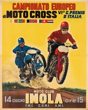 European Motocross Motorcycle Imola Italy Championsh Vintage Poster Repo FREE SH
