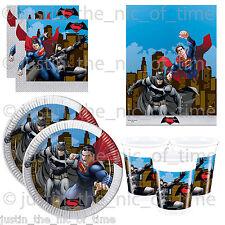 Marvel BATMAN v SUPERMAN Boys Birthday Party Tableware Plates Cups Napkins