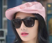 1PCS Fashion Lady Summer Sequin Beret Peaked Cap Hat