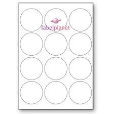 12 por página Blanco A4 Redonda Circular Autoadhesivo Etiquetas Adhesivas Etiqueta Planeta ®