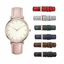 Elegante Dünne Damenuhr Armbanduhr Lederarmband Uhr Fashion Watch Klassich