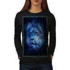 Sky Lion Face Moon Animal Women Long Sleeve T-shirt NEW   Wellcoda