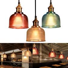 Vintage Colored Glass Pendant Drop Ceiling Light Lamp Hanging Fixtures Lighting