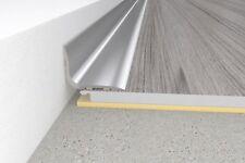 Self-adhesive Brushed aluminium skirting board -1 meter length - 20x15mm - angle