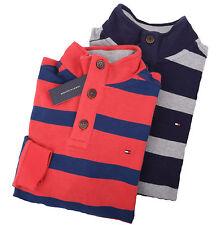 Tommy Hilfiger Men's Half Button Mock Turtle Neck Stripe Sweater - $0 Free Ship
