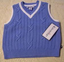 NWT KITESTRINGS Hartstrings Light Blue V-Neck Sweater VEST 18 or 24 months