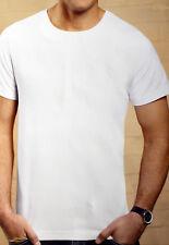 T-Shirt T-Shirts 2er Set Herren weiß Gr. L / XL kurzarm Shirt