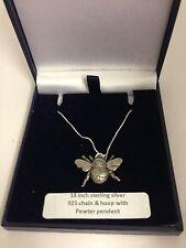 Bee pp-a34 Colgante en un collar de plata 925 16,18,20,26,30
