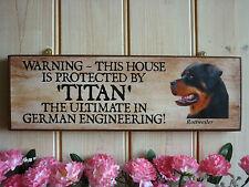 Segnale di avviso di Rottweiler PERSONALIZZATA NOME SEGNO giardino PORTONE segno Kennel SEGNO REGALO