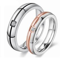 COppia anello Fedine Fede Acciaio Cuore charm incisione anniversario bracciale