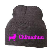 Beanie Strickmütze Mütze Stickmotiv CHIHUAHUA Hunde Siviwonder