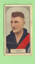 1930 VICTORIAN FOOTBALLERS CARD - HOADLEYS CHOCOLATE #90 G. RUDOLPH, COBURG
