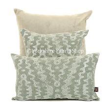 NEUF doux tissé Metalique tonalités gris argenté zigg ZAGG motif tissu COUSSIN