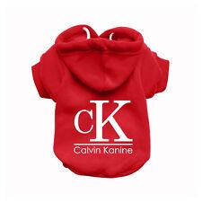 CALVIN KANINE Red Dog Sweatshirt Hoodie - Dog Sweater - Dog Jumper