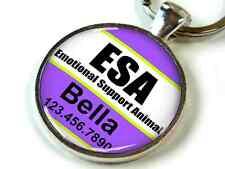 Service dog CUSTOM Emotional Support Animal purple white pet dog cat ID ESA