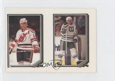 1987-88 O-Pee-Chee Album Stickers 205-64 Ulf Samuelsson Mark Johnson Hockey Card