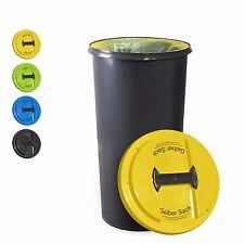 KUEFA BSC6 LA - 60L Müllsackständer mit flachem Deckel - Gelber Sack Ständer