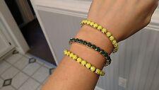 Green Gem Fashion Wrap Bracelet Sets of Pearl Blue Yellow