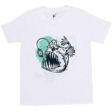 Sharp diente Pirata Capitán Monster Piraña Peces Niños Chicos T-Shirt