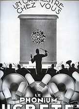 1929 Publicité Phonographe - PHONIUM DUCRETET