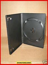 100 CUSTODIE DVD CD ALTA QUALITA' NERE 14 MM per film