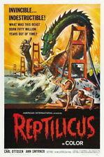 66318 Reptilicus Movie Carl Ottosen, Ann Smyrner Wall Print Poster CA