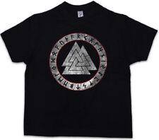 VALKNUT RUNES Kids Boys T-Shirt Newpaganism Odin Thor Loki Midgard Rune Walhalla
