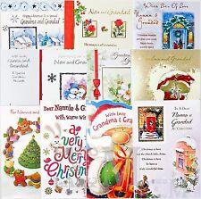 Grandparents Christmas Card - Nanna / Nan / Nannie / Grandma / Gran and Grandad